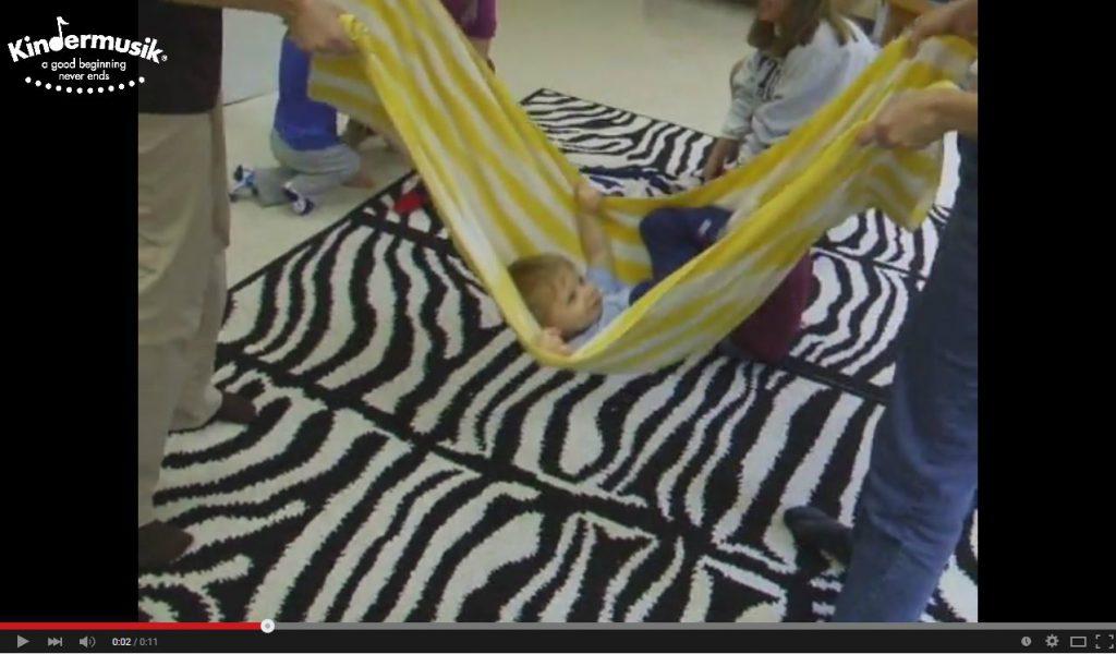 baby boy in a hammock