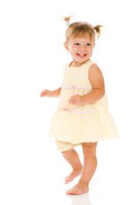 Smiling Dancing Toddler Girl