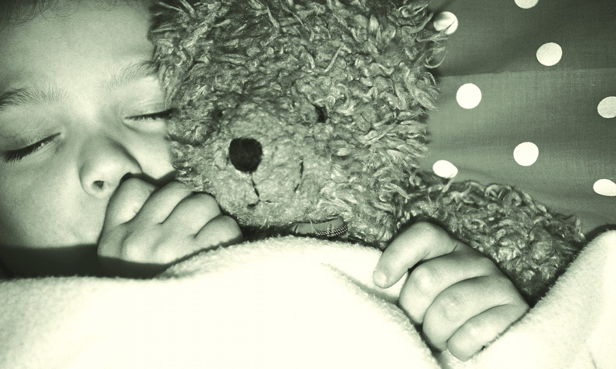 Kindermusik Bedtime Rituals - Little Boy Snuggles Teddy