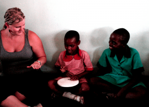 Laura Ainamo teaches English in Zimbabwe with Kindermusik