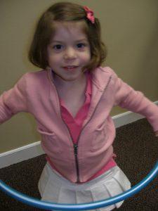 Kindermusik girl with hoop