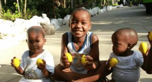 Kenyan children playing egg shakers