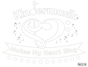 #KindermusikMovesMe Traceable Sheet