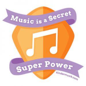 Music is a secret super power badge