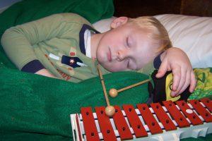 Brady asleep with glock