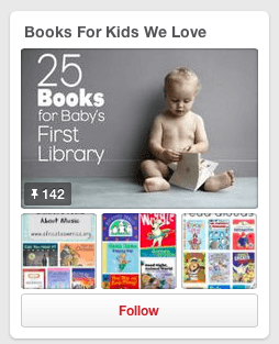 Books for Kids We Love Pinterest Board
