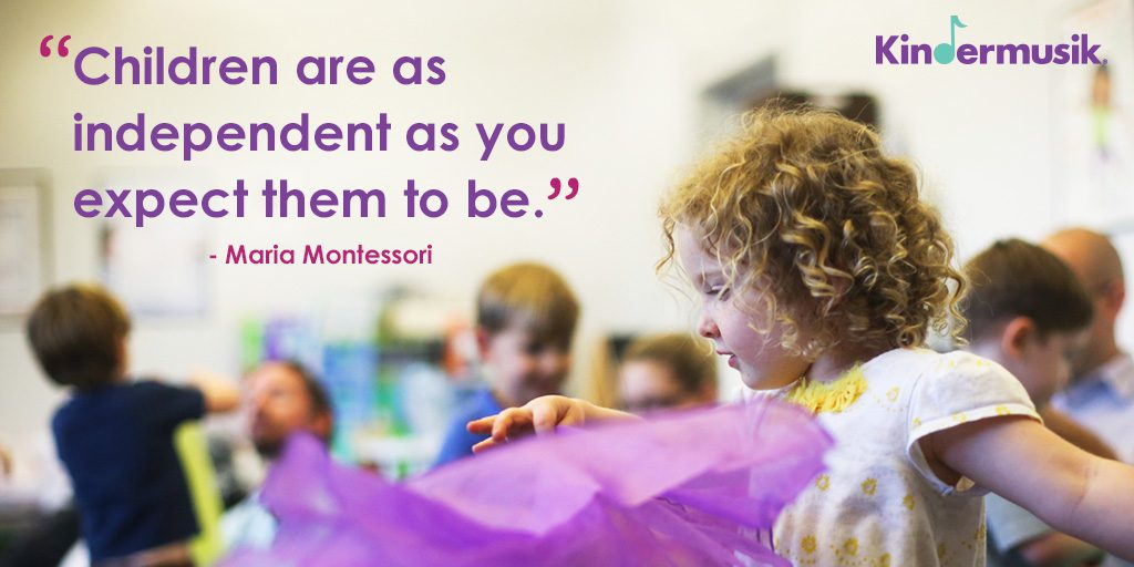 Children's Independence Montessori Quote
