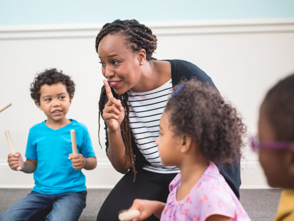 Musical activities provide a fun way for children with hearing loss to actively participate in practicing the development of their language and speech.